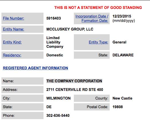 MCCLUSKEY DE LLC